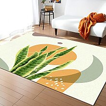 Geometrische Tropische Pflanze Blätter Teppich