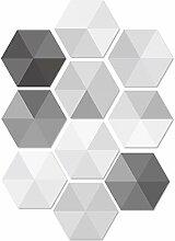 Geometrische Wandaufkleber 10Pcs Pvc-Fliese Self