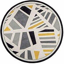 Geometrischer runder Teppich Wohnzimmer, einfaches