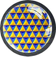 Geometrisches Dreieck, 4Pack ABS Kommode Knöpfe