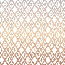 Geometrisches Muster Fliesen- und Wandtapete Pink