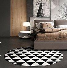 Geometrisches Schwarz-Weiß-Wohnzimmer-Sofa im