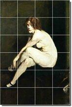 GEORGE Blasebalg Nudes Badezimmer Fliesen Wand 10. 121,9x 182,9cm (24) 12x 12Keramik Fliesen.