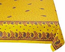 Georges G Cachemire TEP024/3-1 Tischdecke, Baumwolle, quadratisch 160 x 160 cm, Gelb