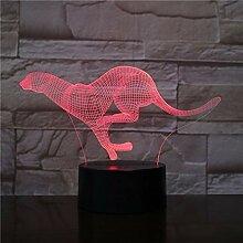 Gepard laufen lassen Nachtlichter für Kinder, 3D