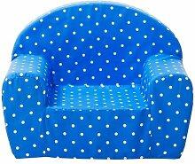 Gepetto Kinder Sessel - Blau mit weißen Punkten