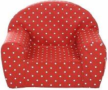 Gepetto Kinder Sessel - Rot mit weißen Punkten