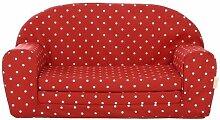 Gepetto Kindersofa ausklappbar rot mit weißen