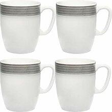 Gepolana Kaffeebecher 4er-Pack Porzellan grau