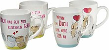 Gepolana Kaffeebecher 4er-Pack Porzellan