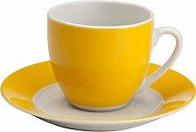 Gepolana Kaffeetassenset 12-tlg. Porzellan gelb