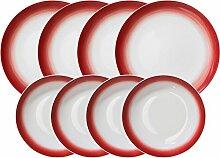 Gepolana Tafelservice 8-tlg. Porzellan bordeaux