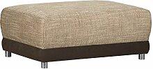 Gepolsterter Hocker mit Federkern Corona Molly / Sitz- & Fußhocker für Ecksofa / Mit Strukturstoff und Microfaser in Cappucino / 99 x 69 x 41 cm (B x T x H)