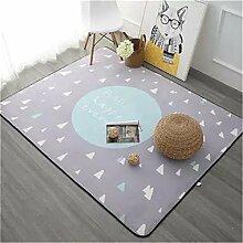 Gepolsterter Kinderzimmer Spielteppich Großes, modernes Schlafzimmer Teppich Rosa Teppich Himmel blau 1000 mm 1500 mm