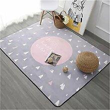 Gepolsterter Kinderzimmer Spielteppich Großes, modernes Schlafzimmer Teppich Rosa Teppich