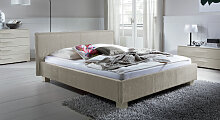 Gepolstertes Doppelbett Medina, 140x200 cm,