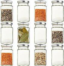 Gepp's Feinkost Viereckglas-Set |12 praktische