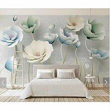 Geprägte Blume Zweig Tapete Wandbild Für