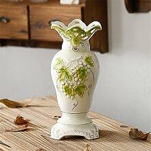 Geprägte Keramik Vase, Höhe 30 cm, B für Mittelstücke Weihnachten Geburtstag Hochzeit Party Geschenk Desktop Home Decor