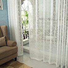 """Geprägte Scheren, Continental, Schlafzimmer Wohnzimmer Licht, bestickte Fenster Screening , 2*(50W x 96""""""""L)"""
