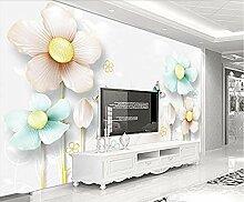 Geprägte Schmuckblumen Modern für Walls Murals