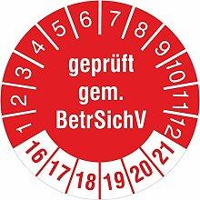 Geprüft gemäß BetrSichV rot 2016-2021