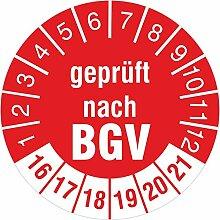 Geprüft nach BGV rot 2016-2021 Prüfplakette 30