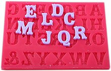 Gepunktet Buchstaben set Fondant Silikonform ca. 2