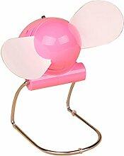 Geräuschloser Mini Desk Cooler Ventilator, Metallgestell (pink)