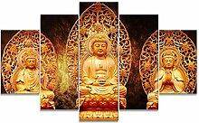 Gerahmte moderne Malerei Buddha Bild Drucke auf