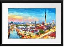Gerahmter Fotodruck Berlin City Panorama