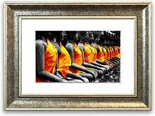 Gerahmter Fotodruck Buddha-Statue East Urban Home