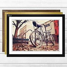 Gerahmter Fotodruck Chopper Bike Bicycle East