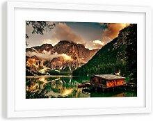 Gerahmter Fotodruck Ferienhaus am Alpensee 3 17