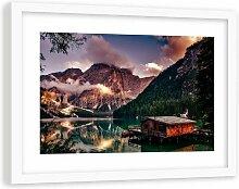 Gerahmter Fotodruck Ferienhaus am Alpensee 4 17