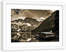 Gerahmter Fotodruck Ferienhaus am Bergsee 1 17