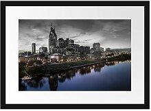 Gerahmter Fotodruck Nashville Skyline Panorama