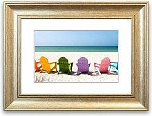 Gerahmter Fotodruck Strandkörbe 2
