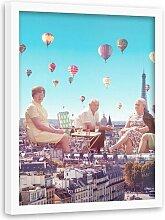 Gerahmter Grafikdruck Ballons über Paris ScanMod