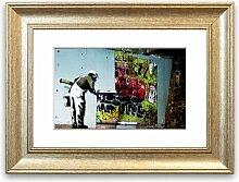 Gerahmter Grafikdruck Graffiti-Tapete East Urban