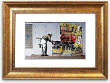 Gerahmter Grafikdruck Tapete über Robbo Graffiti