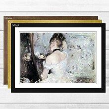 Gerahmter Kunstdruck Frau bei der Toilette von