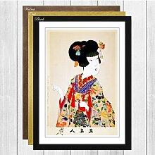 Gerahmter Kunstdruck Japanese Oriental True Beauty