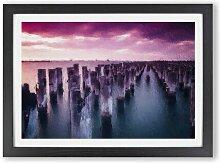 Gerahmter Kunstdruck Princes Pier in Victoria