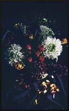 Gerahmtes Acrylbild Blumenstrauß