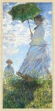 Gerahmtes Acrylbild Mutter mit Regenschirm
