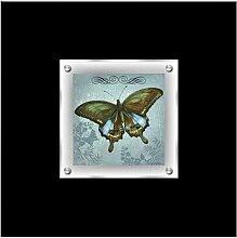 Gerahmtes Acrylbild Schmetterling Ebern Designs
