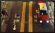 Gerahmtes Acrylbild Straßenquerung