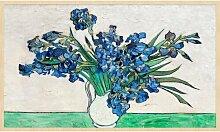 Gerahmtes Acrylbild Vase mit Blumen Rosalind