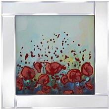 Gerahmtes Glasbild Abstrakte Blumen Ebern Designs